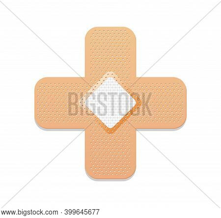 Medical Plaster. Adhesive Bandage Or Sticking Plaster. Medical Band Aids Protection Patch For First