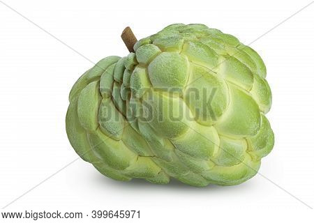 Sugar Apple Or Custard Apple Isolated On White Background With Clipping Path And Full Depth Of Field