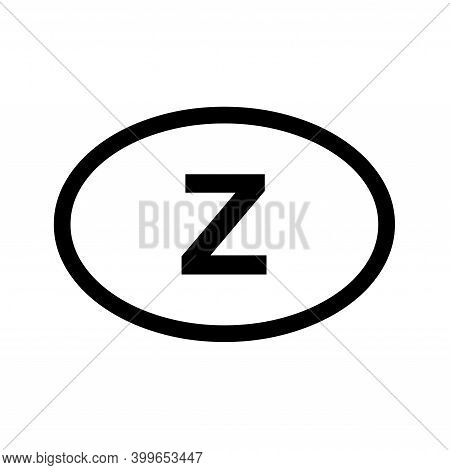 Country Code Vehicle Registration Zambia With A White Background