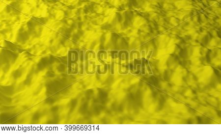 Abstract Background With Yellow Noise Field. Abstract Landscape Mountain Surface. Detailed Displaced