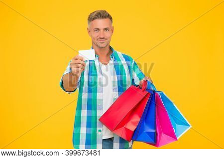 Holiday Flash Sale And Special Offer. Cyber Monday In Shop. Customer. Successful Male Shopping. Man