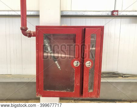 Fire Extinguisher Box With Fire Hose Inside