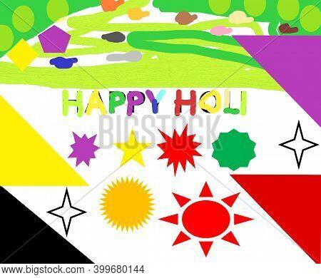 Happy Holi With Colour Full Holi Background.
