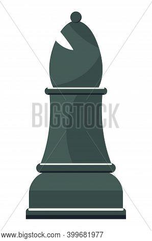 Black Single Cartoon Chess Piece Bishop Illustration