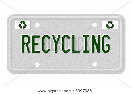 Recycling Car  License Plate