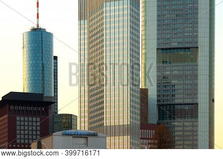 Frankfur Am Main, Hesse, Germany, Europe - March 10, 2010: Architectural Detail Of The Facade Of Sky