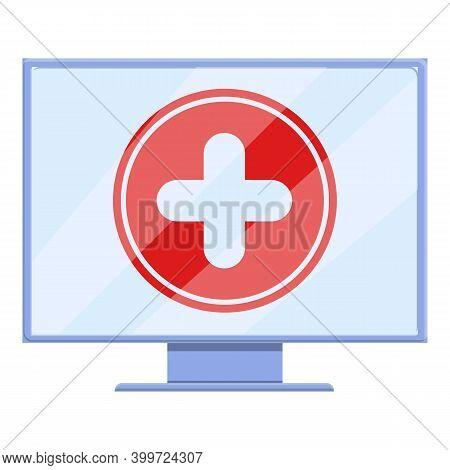 Telemedicine Online Consultation Icon. Cartoon Of Telemedicine Online Consultation Vector Icon For W