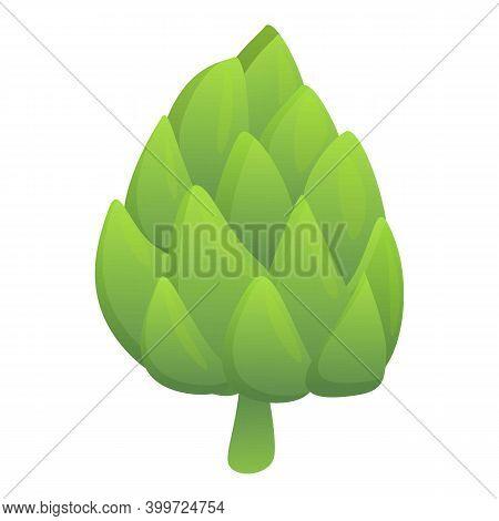 Green Artichoke Icon. Cartoon Of Green Artichoke Vector Icon For Web Design Isolated On White Backgr
