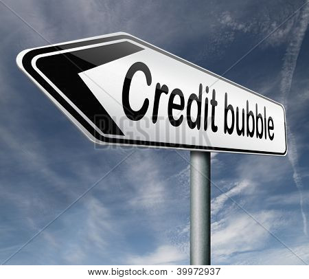 credit bubble economic financial market in crisis because of speculation and bank inflation