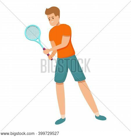 Amateur Tennis Icon. Cartoon Of Amateur Tennis Vector Icon For Web Design Isolated On White Backgrou