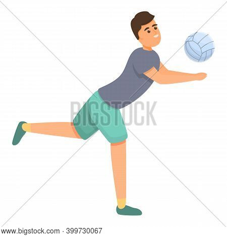 Ridiculous Volleyball Player Icon. Cartoon Of Ridiculous Volleyball Player Vector Icon For Web Desig
