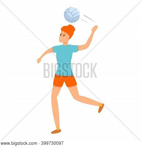 Volleyball For Beginners Icon. Cartoon Of Volleyball For Beginners Vector Icon For Web Design Isolat
