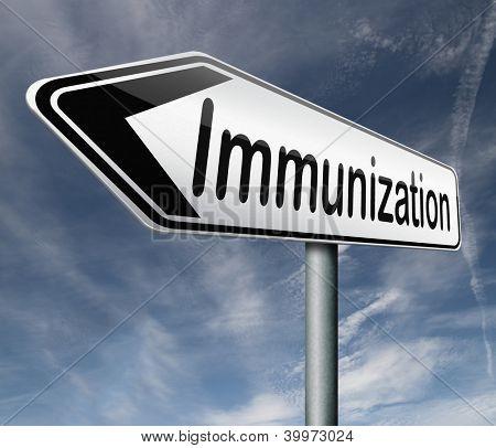 immunization or flu vaccination needle