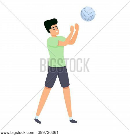 Amateur Volleyball Icon. Cartoon Of Amateur Volleyball Vector Icon For Web Design Isolated On White