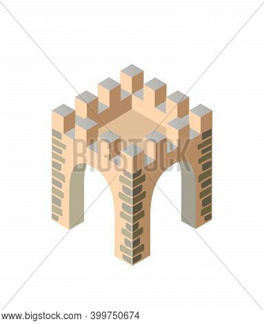 Fort Ancient Historic Antique Fortress Castle Isometric Building
