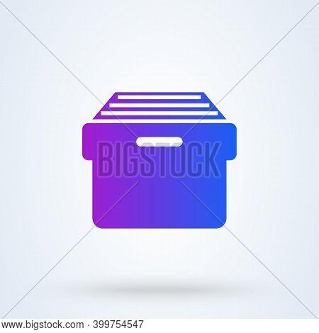 Archive Storage Sign Icon Or Logo. File Cabinet Concept. Document Archive Storage Vector Illustratio