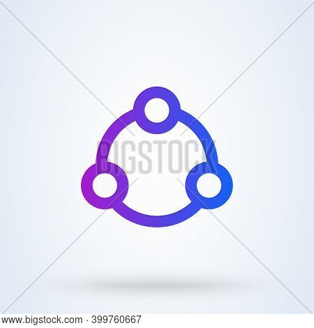Share Sign Line Icon Or Logo. File Sharing Concept. Share Social Networking Service Vector Linear Il