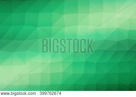 Abstract illustration of polygonal texture design on green and white gradient background. background with abstract texture with abstract shapes concept