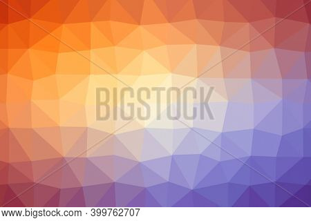 Abstract illustration of polygonal texture design on blue and orange gradient background. background with abstract texture with abstract shapes concept