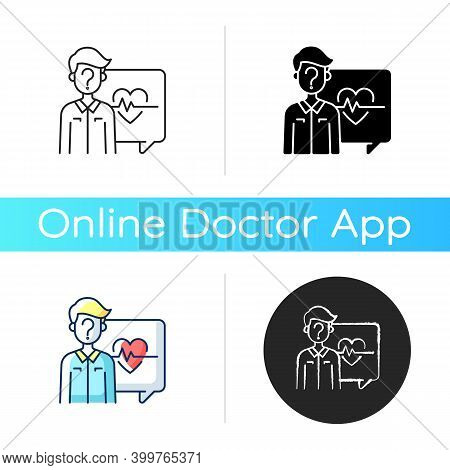 Anonymous Question Icon. Health And Medical-related Questions. Chatting With Doctor Online. One-on-o