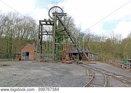Coal Mine Headframe In The Black Country, England
