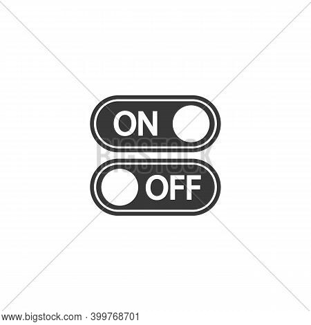 Flat Icon On Off Toggle Switch Button Vector Format