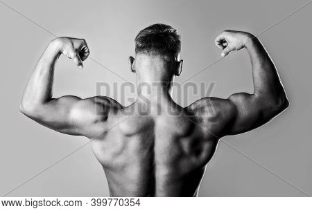 Muscular Back, Muscular Man, Muscled Back, Naked Torso. Male Naked, Healthy Musculars Guy, Torso Man
