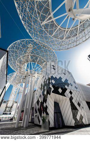 Dubai, Uae, January 25, 2021, Duturistic Architecture At Bluewaters Island.
