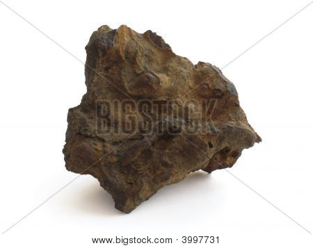 A piece of iron ore (siderite and goethite) isolated on white poster