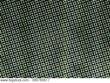 Abstract Halftone Polka Dots Background Pattern.green Black White Colors.circles Texture.round Dotte