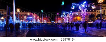Christmas Decoration In Nice, France