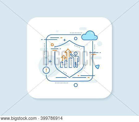 Employee Results Line Icon. Abstract Vector Button. Work Result Sign. Statistics Chart Symbol. Emplo