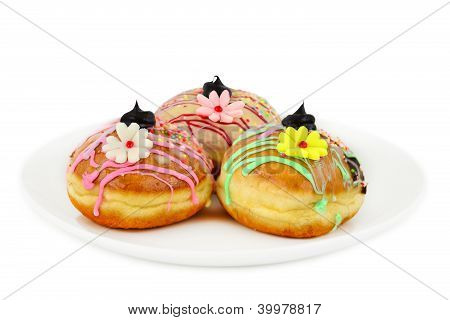 Sufganiyot - Donuts With Flowers