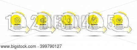 Approved, Quickstart Guide And Light Bulb Line Icons Set. Timeline Process Infograph. Mindfulness St