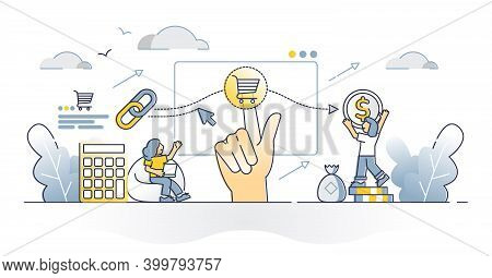 Cost Per Acquisition Or Cpa As Advertising Measurement Model Outline Concept