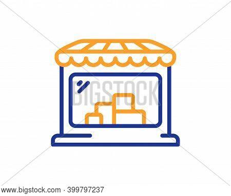 Market Line Icon. Wholesale Store Sign. Retail Marketplace Symbol. Quality Design Element. Line Styl