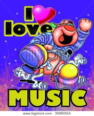 I love the music