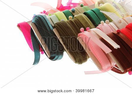 Ribbon Organization Or Composition With Needles Isolated Close