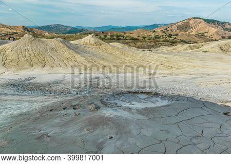 Active Mud Volcanoes Natural Phenomenon Captured In Romania