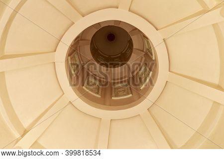 View Of The Dome In The Brahma Vihara Arama Pagoda. View Of The Dome Of The Mosque From Inside. From