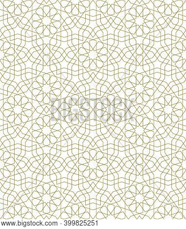 Background Seamless Pattern Based On Traditional Islamic Art.brown Color.great Design For Fabric,tex