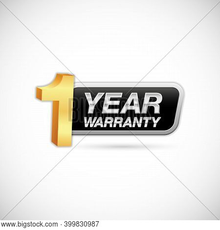 1 Year Warranty Golden And Silver Label