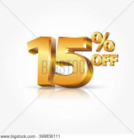5% Off Discount Promotion Sale Isolated On White Background
