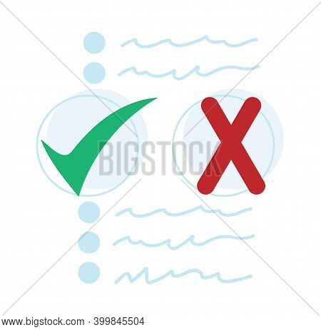 Fact Search Concept. Fact-searching Flat Vector Symbol, Sign. True Vs False Illustration. Isolated O