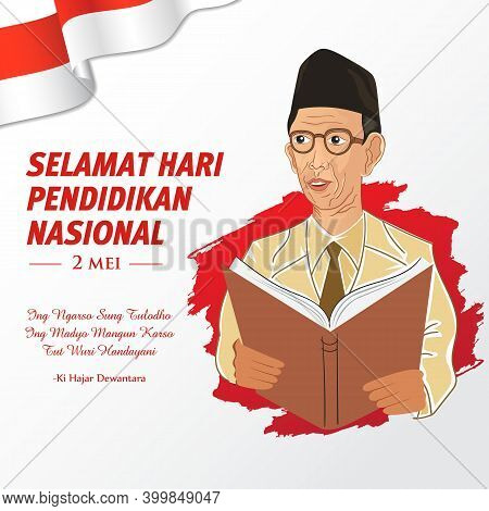 Selamat Hari Pendidikan Nasional 2 Mei, Translation: May 2, Happy National Education Day Of Indonesi