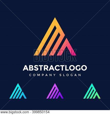 Ma Logo Design - Letter Ma Icon Template Elements - Ma Initial Intro - Triangle Shape With The Ma Al