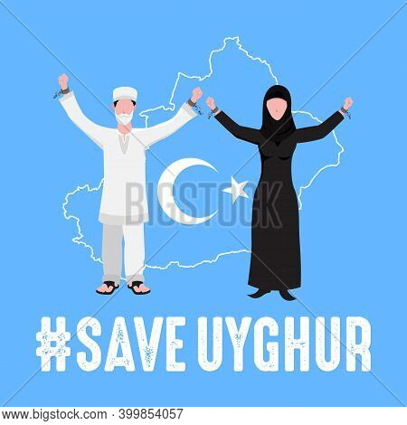 Save Uyghur Vector Illustration
