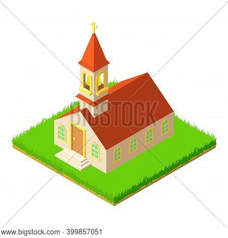 Catholic Kirch Icon. Isometric Illustration Of Catholic Kirch Vector Icon For Web
