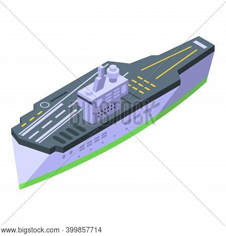 Aircraft Carrier Float Icon. Isometric Of Aircraft Carrier Float Vector Icon For Web Design Isolated