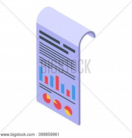Graph Chart Assignment Icon. Isometric Of Graph Chart Assignment Vector Icon For Web Design Isolated
